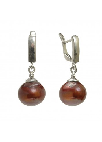 Srebrne kolczyki z perłami SE0523B