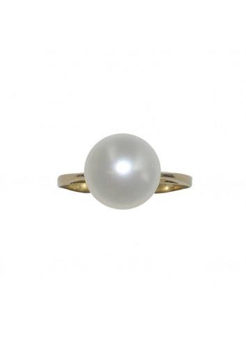 Złoty pierścionek z perłą Biwa IR0736G