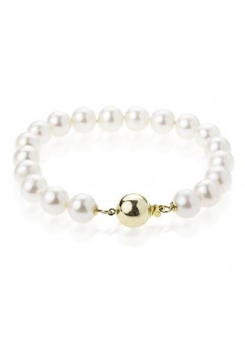 Złota bransoleta z pereł BIWA BO995G3
