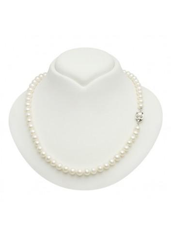 Srebrny naszyjnik z pereł BIWA NO078S32
