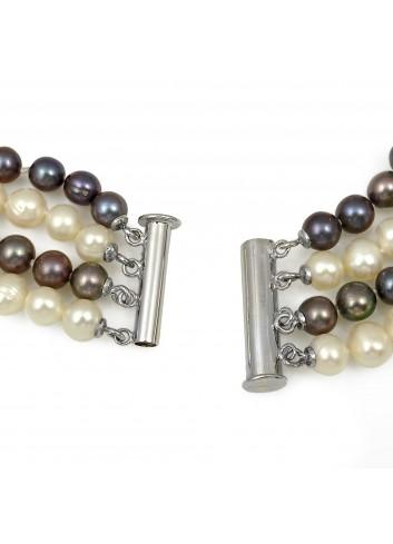 Naszyjnik 4-rzędowy z pereł N067x4S